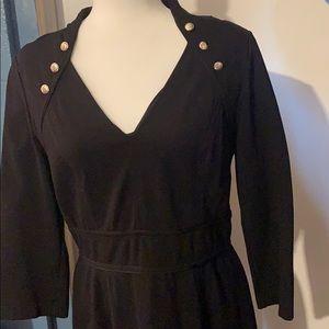 WHBM Black Ponte Dress